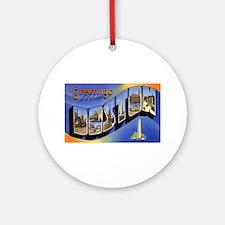 Boston Massachusetts Greetings Ornament (Round)