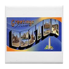 Boston Massachusetts Greetings Tile Coaster
