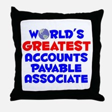 World's Greatest Accou.. (A) Throw Pillow