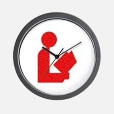 Library Love Logo Wall Clock