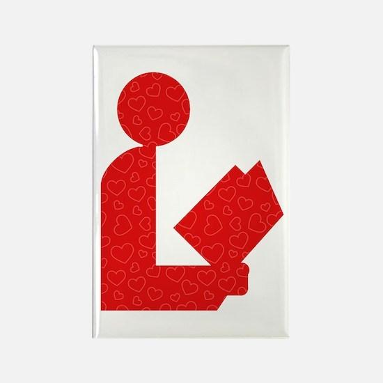 Library Love Logo Rectangle Magnet (10 pack)