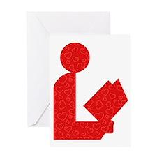 Library Love Logo Greeting Card