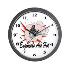 Engineers Are Hot Wall Clock