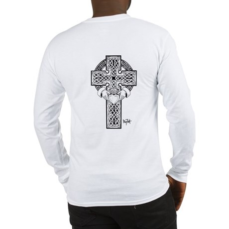 Claddagh Cross Long Sleeve T-Shirt