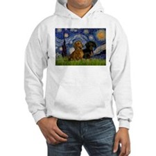 Starry Night Doxie Pair Hoodie