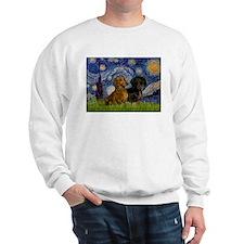 Starry Night Doxie Pair Sweatshirt