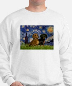 Starry Night Doxie Pair Sweatshirt