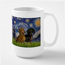 Starry Night Doxie Pair Mug