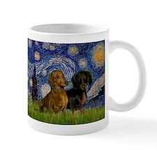 Starry Night Doxie Pair Small Mug