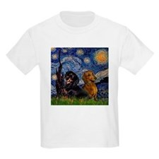 Starry Night Doxie Pair T-Shirt