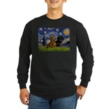 Starry Night Doxie Pair T