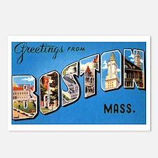 Boston Massachusetts Greetings Postcards (Package