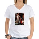 Princess & Doxie Pair Women's V-Neck T-Shirt