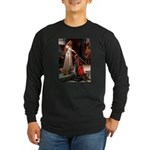 Princess & Doxie Pair Long Sleeve Dark T-Shirt