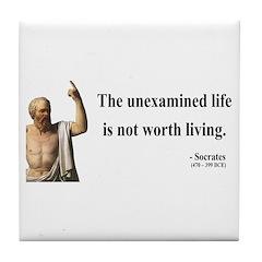 Socrates 1 Tile Coaster
