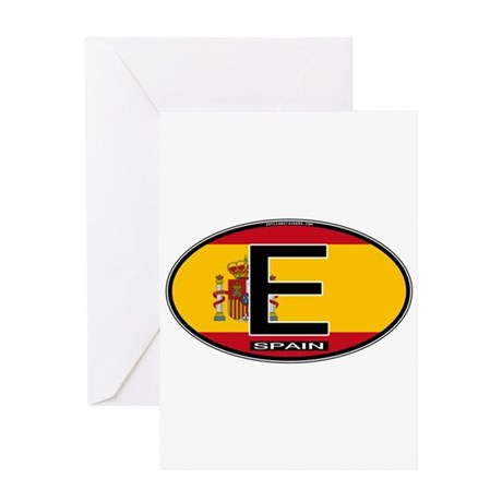 Spain Colors Oval Greeting Card