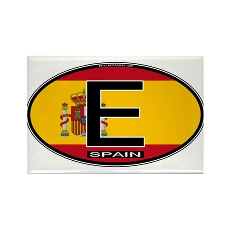 Spain Colors Oval Rectangle Magnet