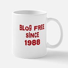 Blog Free Since 1988 Mug