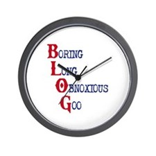 Blog Definition Wall Clock