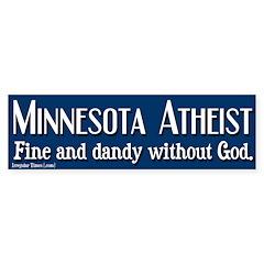 Minnesota Atheist Bumper Bumper Sticker