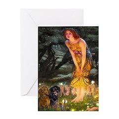 Fairies / Dachshund Greeting Card