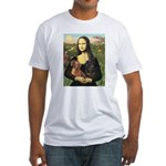 Mona Lisa's Dachshunds Fitted T-Shirt