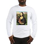 Mona Lisa's Dachshunds Long Sleeve T-Shirt