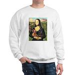Mona Lisa's Dachshunds Sweatshirt