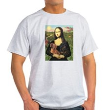 Mona Lisa's Dachshunds T-Shirt