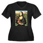 Mona Lisa's Dachshunds Women's Plus Size V-Neck Da