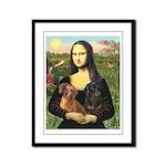 Mona Lisa's Dachshunds Framed Panel Print