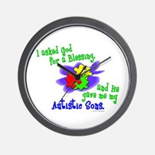 Blessing 2 (Autistic Sons) Wall Clock
