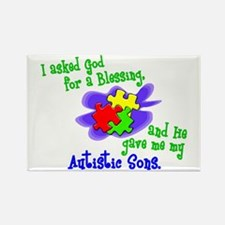 Blessing 2 (Autistic Sons) Rectangle Magnet
