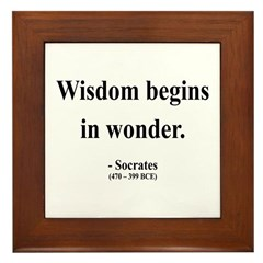 Socrates 2 Framed Tile