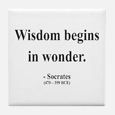 Socrates 2 Tile Coaster
