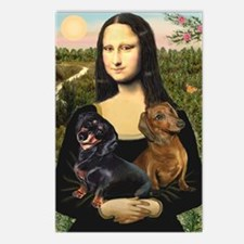 Mona Lisa's Dachshunds Postcards (Package of 8)