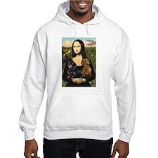 Mona Lisa's Dachshunds Hoodie