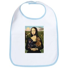 Mona Lisa's Dachshunds Bib