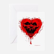 Evil Heart Tattoo Greeting Card