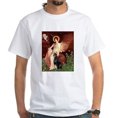 Seated Angel & Dobie White T-Shirt