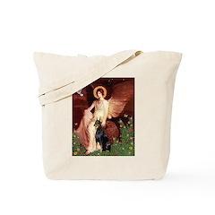 Seated Angel & Dobie Tote Bag