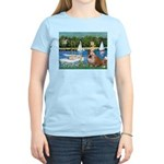 Sailboats /English Bulldog Women's Light T-Shirt