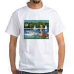 Sailboats /English Bulldog White T-Shirt
