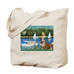 Sailboats /English Bulldog Tote Bag