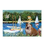 Sailboats /English Bulldog Postcards (Package of 8