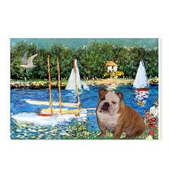 Sailboats /English Bulldog Postcards (Package of 8