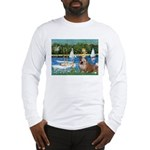 Sailboats /English Bulldog Long Sleeve T-Shirt