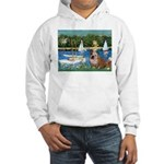Sailboats /English Bulldog Hooded Sweatshirt
