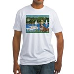 Sailboats /English Bulldog Fitted T-Shirt