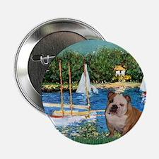 "Sailboats /English Bulldog 2.25"" Button"
